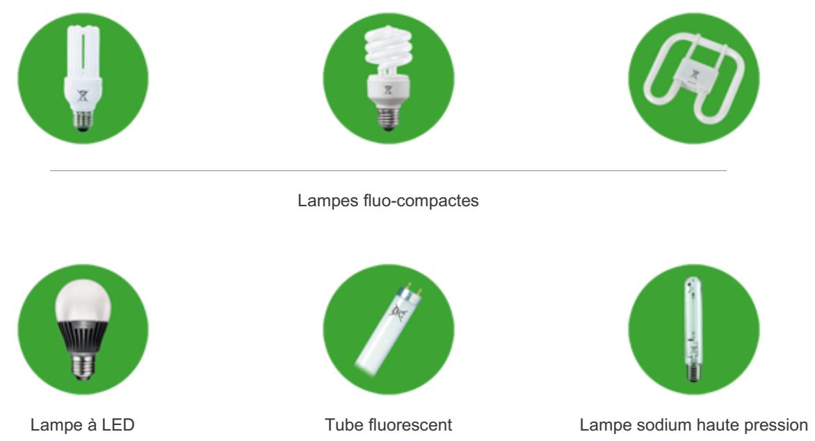 Schéma lampes fluo