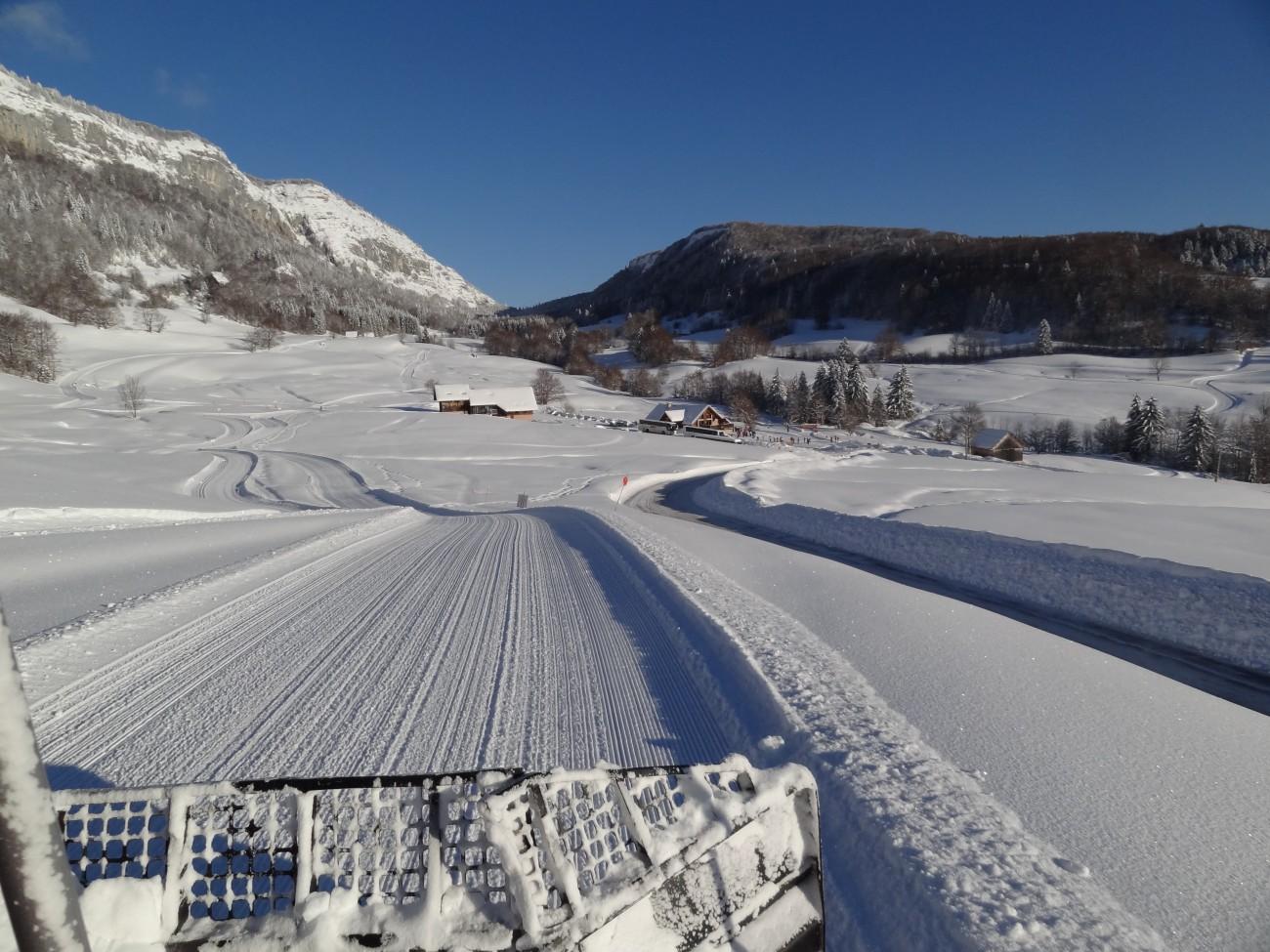 Ski nordique dameuse