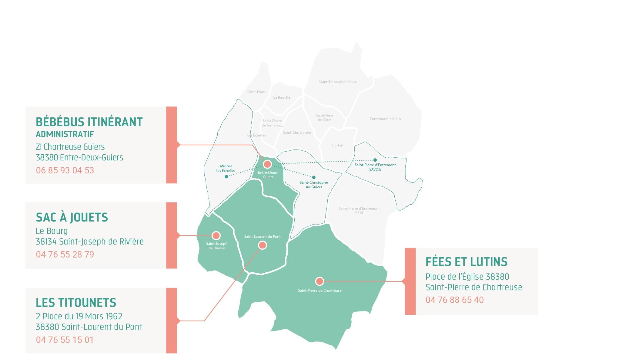 Carte des établissements d'accueil collectif