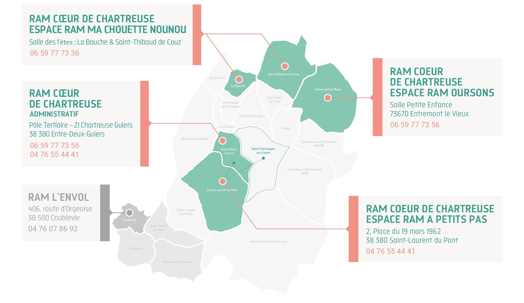 Carte établissements accueil individuel